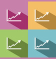 benefits chart icon with shade on colored vector image vector image