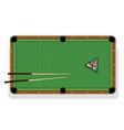 billiard table pool stick and billiard balls for vector image vector image