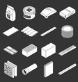 building materials icons set grey vector image vector image