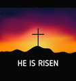 christian religious design for easter celebration vector image