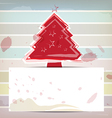 christmas design and pastel color background vector image vector image