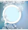 Christmas design with snowflakes EPS10 vector image