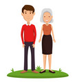 couple friends happy characters vector image vector image