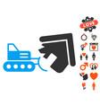 demolition icon with valentine bonus vector image