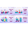 effective business planning motivation webpage vector image