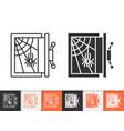 empty safe simple black line icon vector image