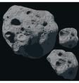 Falling Meteorite Asteroids vector image vector image