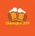festive inscription for oktoberfest with a picture vector image vector image