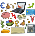 financial set vector image vector image