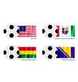 Football with Bikini Atoll Bolivia Bosnia Flag vector image vector image