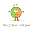 funny potato and peas vector image vector image