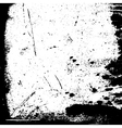 Grunge black white border vector image vector image