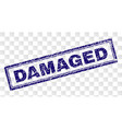 grunge damaged rectangle stamp vector image vector image