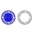 grunge mineral water textured stamp seals vector image vector image