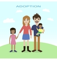 Happy family adoption love mother father vector image vector image