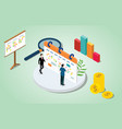 isometric 3d project management concept with vector image