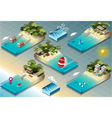 Isometric Tiles of Carribean Holidays vector image vector image