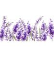lavender watercolor provence vintage retro decor vector image vector image
