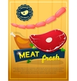 Meat poster vector image vector image