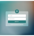Member login form interface For web page site vector image vector image