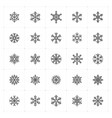 mini icon set snowflake icon vector image vector image