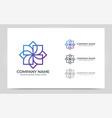 modern geometric abstract logo design editable vector image vector image