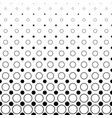 monochrome circle pattern - abstract geometrical vector image vector image