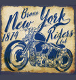 new york vintage t-shirt graphic vector image vector image