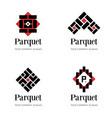 parquet logo template flooring logo template vector image vector image