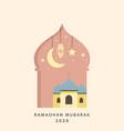 ramadan mubarak card design vector image vector image