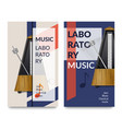 realistic metronome music notes banner set vector image vector image