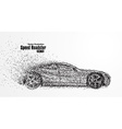 Roadster particles symbolizing speed vector image vector image