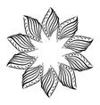 round frame floral ornament flower vector image