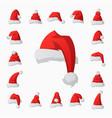 santa claus fashion red hat modern elegance cap vector image