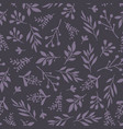 seamless background abstract leaves purple vector image