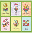 Set of cards for congratulations on easter