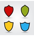 set of modern shields vector image vector image