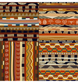 Set of seamless traditional ethnic patterns vector image vector image