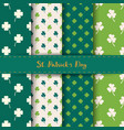 set of st patricks day seamless patterns vector image vector image