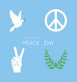 set of symbol for international peace day white vector image vector image