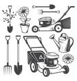 Set of vintage garden designed elements vector image vector image