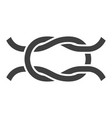 simple monochrome infinity knot icon vector image vector image