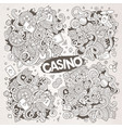 sketchy doodles cartoon set casino vector image