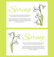 spring posters set green on vector image vector image