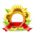 Sunflowers  ribbon vector | Price: 1 Credit (USD $1)