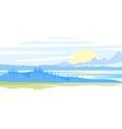 Sunrise Landscape vector image vector image