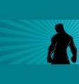 superhero back ray light silhouette vector image vector image