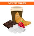 sweet lunch break vector image vector image