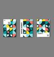 swiss modernism cover set vector image