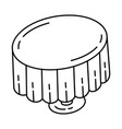 tablecloth party set icon doodle hand drawn vector image